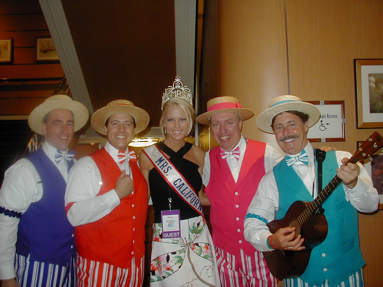 On the Disney cruise with Miss California