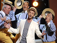 Performing with Justin Timberlake